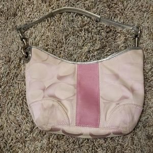 Light pink coach purse